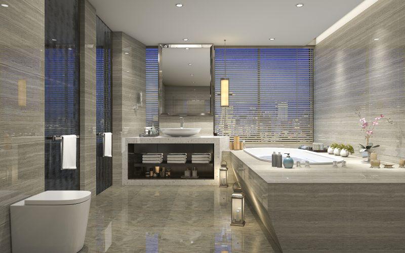 Bathroom using USA Nanocoat MicroClean
