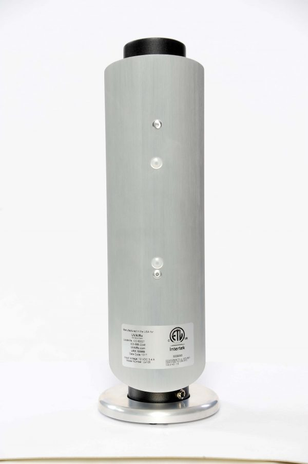 back view of UVAIRx stand alone gas-phase PCO air purifier BL-20